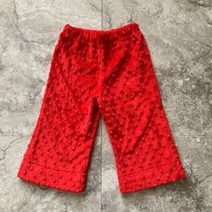 🌈3 For $25🌈 NINI'S TRUNK Red Minky Baby Pants